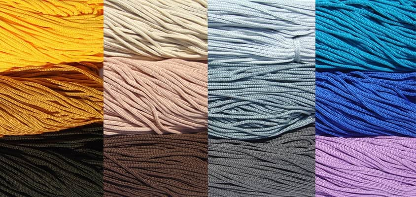 Cords knitted polyester SHVM 3 - 4 mm