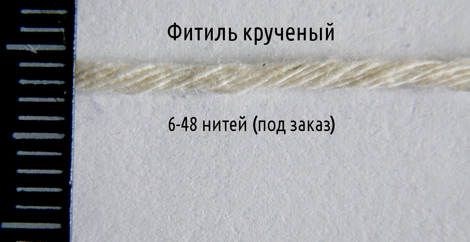Pressed candle wicks twisted wholesale, manufacture Ukraine